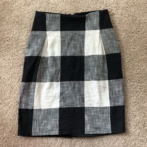 Club Monaco linen blend skirt